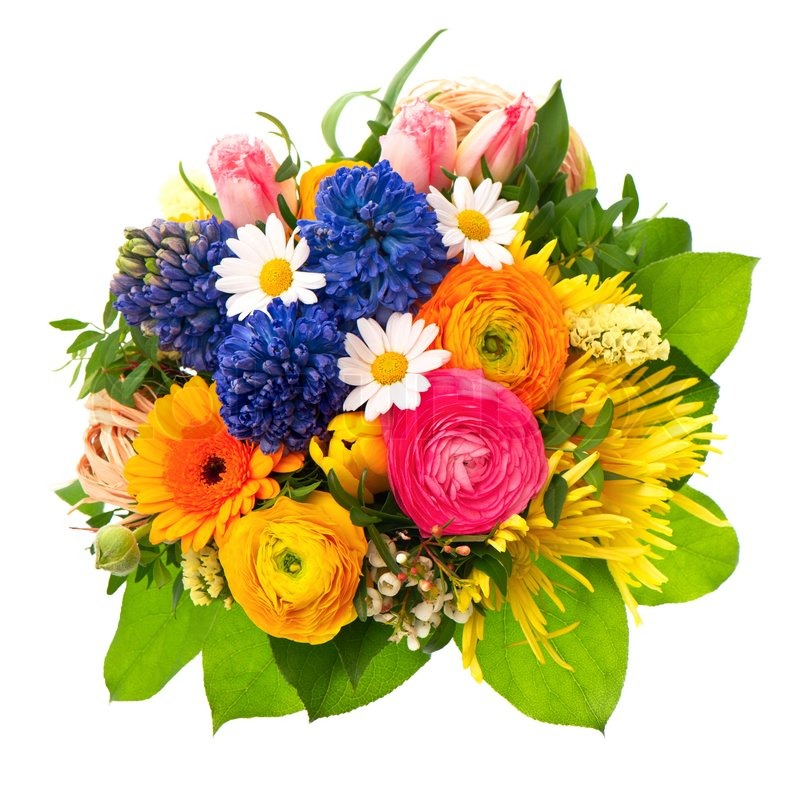 Beautiful bouquet of colorful spring flowers | Stock Photo | Colourbox
