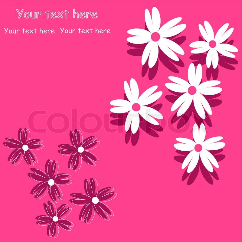 Flower Background For Art Projects Pamphlets Brochures Or Cards