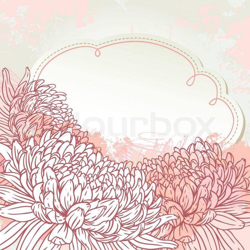 Chrysanthemum Floral Greeting Card ...