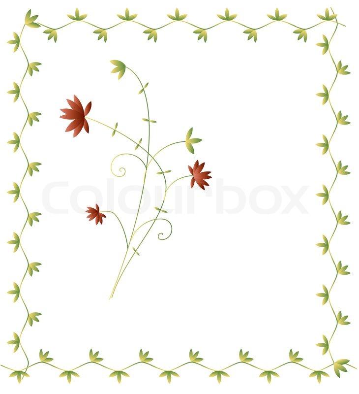 Decorative floral frame for invitation card | Stock Vector | Colourbox