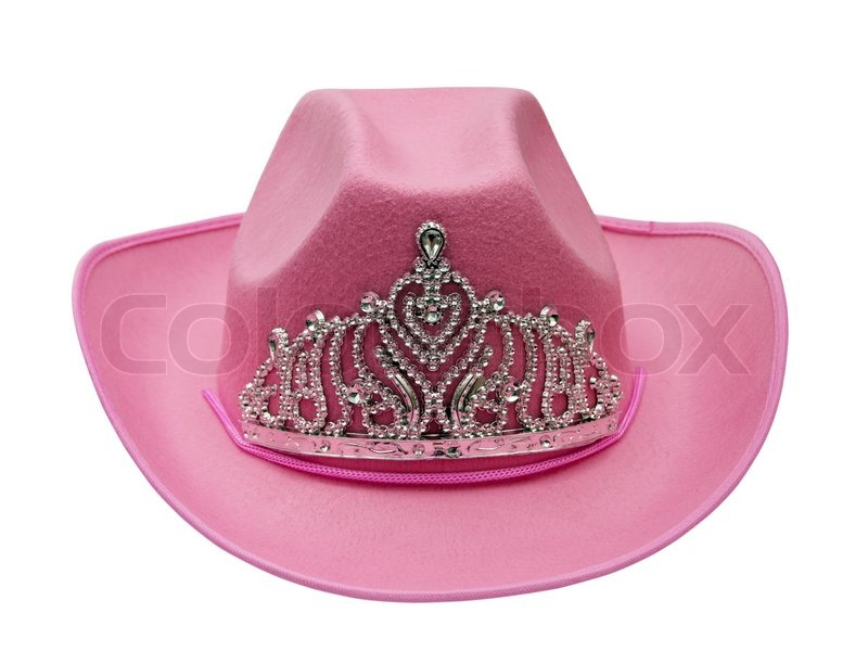 d6bab6098ef22 Pink cowboy hat isolated on white ...