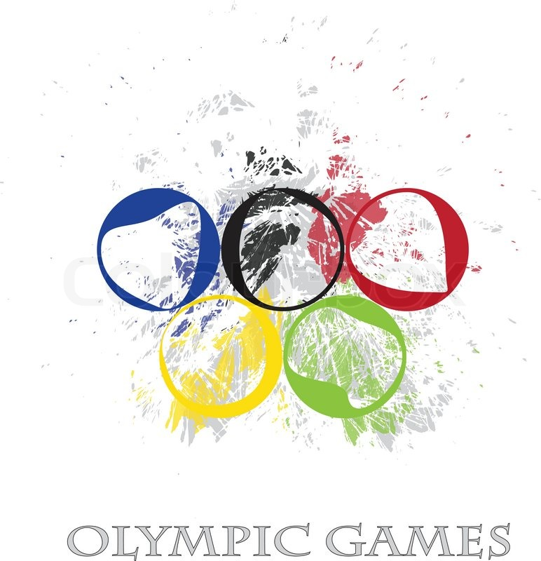 Winter olympic rings logo