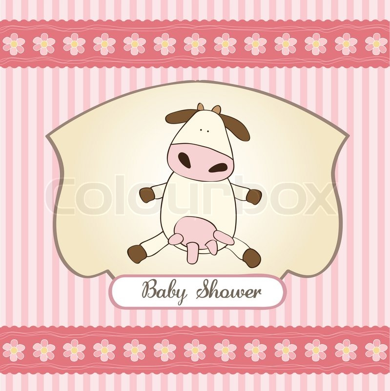 Baby Shower Wiki: Funny Baby Girl Shower Card With Cow