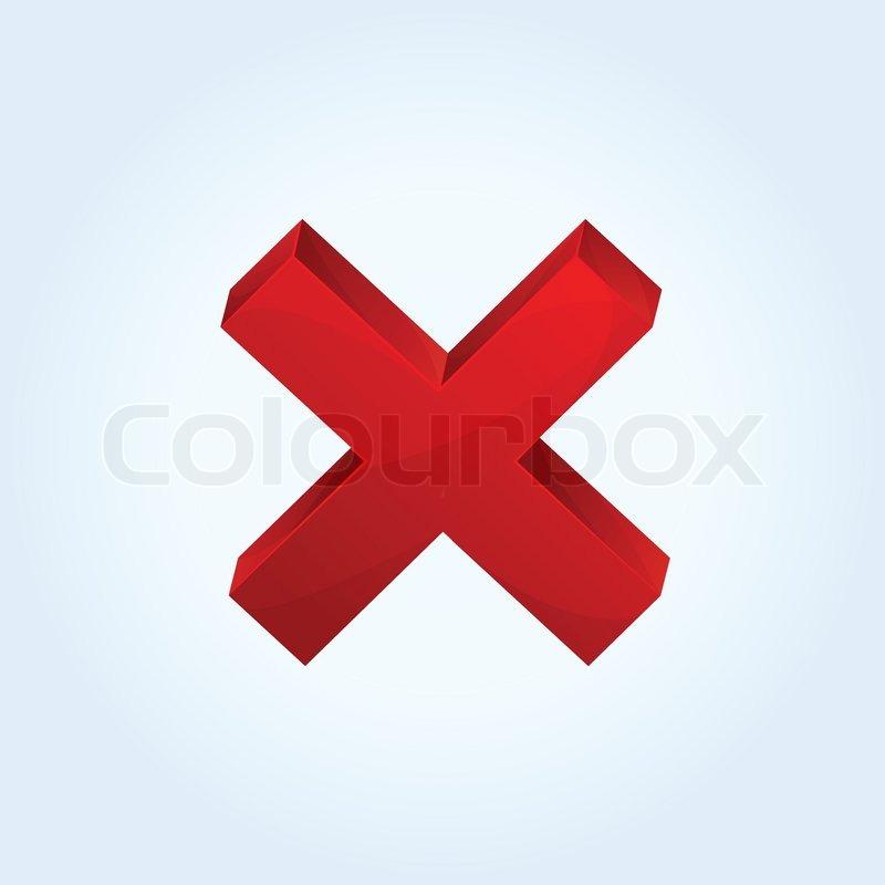 Rotes kreuz symbol  Vektor-rotes Kreuz-Symbol   Vektorgrafik   Colourbox