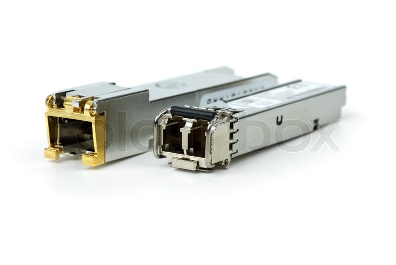 Network Switch Gigabit on Stock Image Of  Gigabit Sfp Modules For Network Switch
