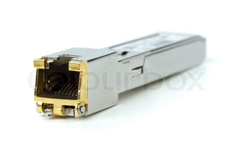 Giga  on Stock Image Of  Gigabit Copper Sfp Module For Network Switch