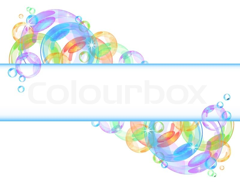 Colorful Abstract Banner With Transparent Bubbles Vector