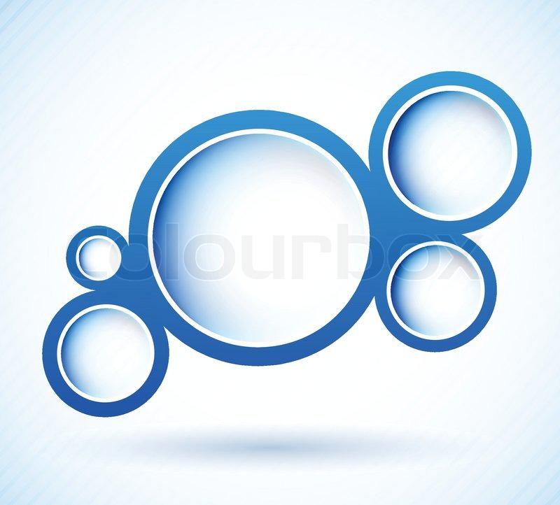 blue circles stock vector colourbox