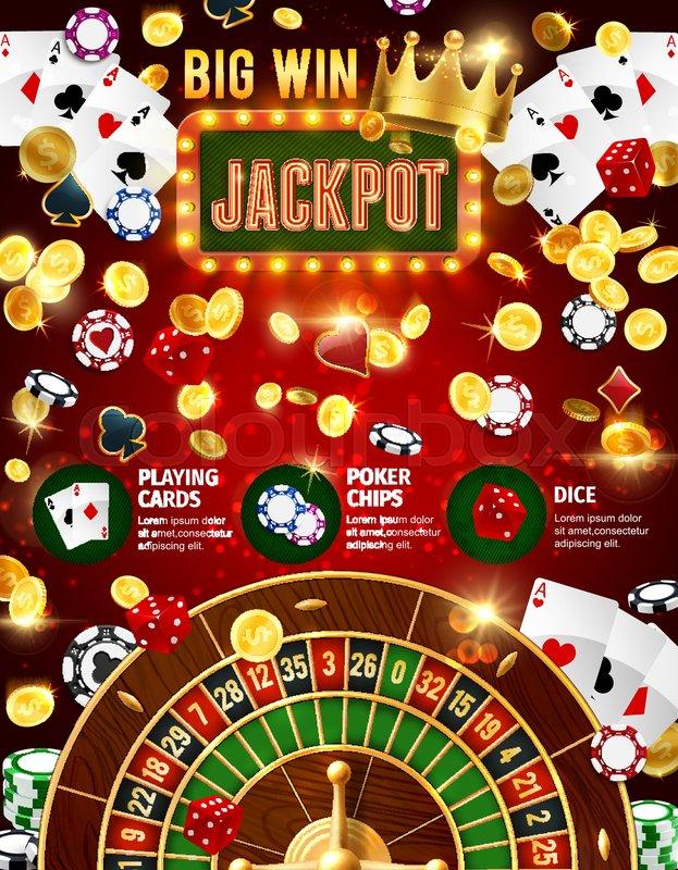 Casino Jackpot 3d Vector Poster Of Stock Vector Colourbox