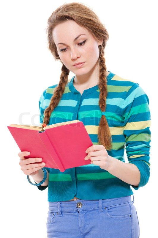 Woman Reading Book Pretty Woman Reading Book