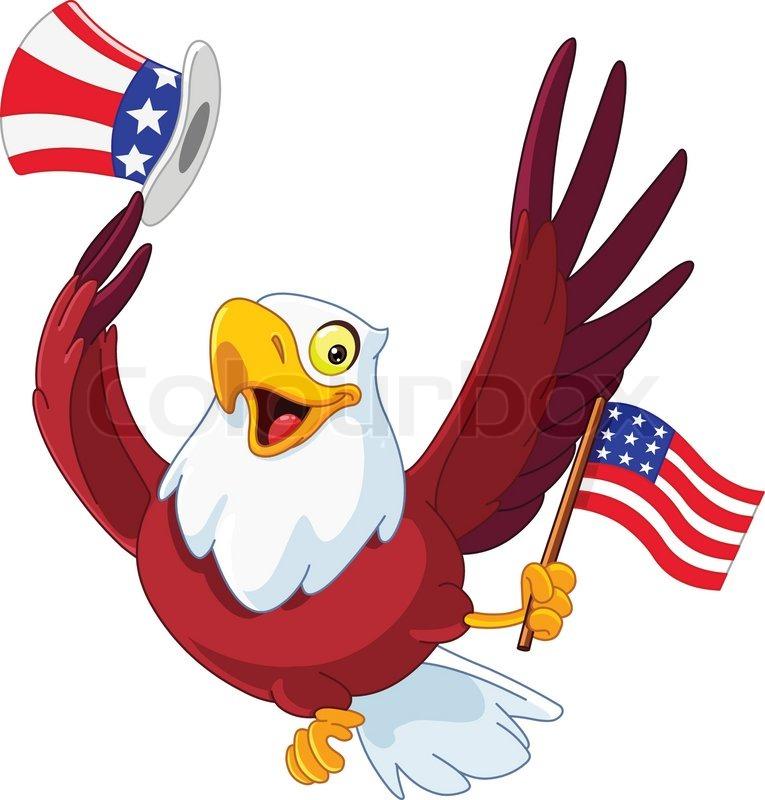 american patriotic eagle stock vector colourbox rh colourbox com Patriotic Symbols Clip Art Patriotic Border Clip Art
