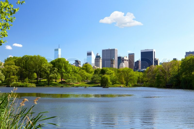The Lake at Central Park in New York City | Stock Photo ...