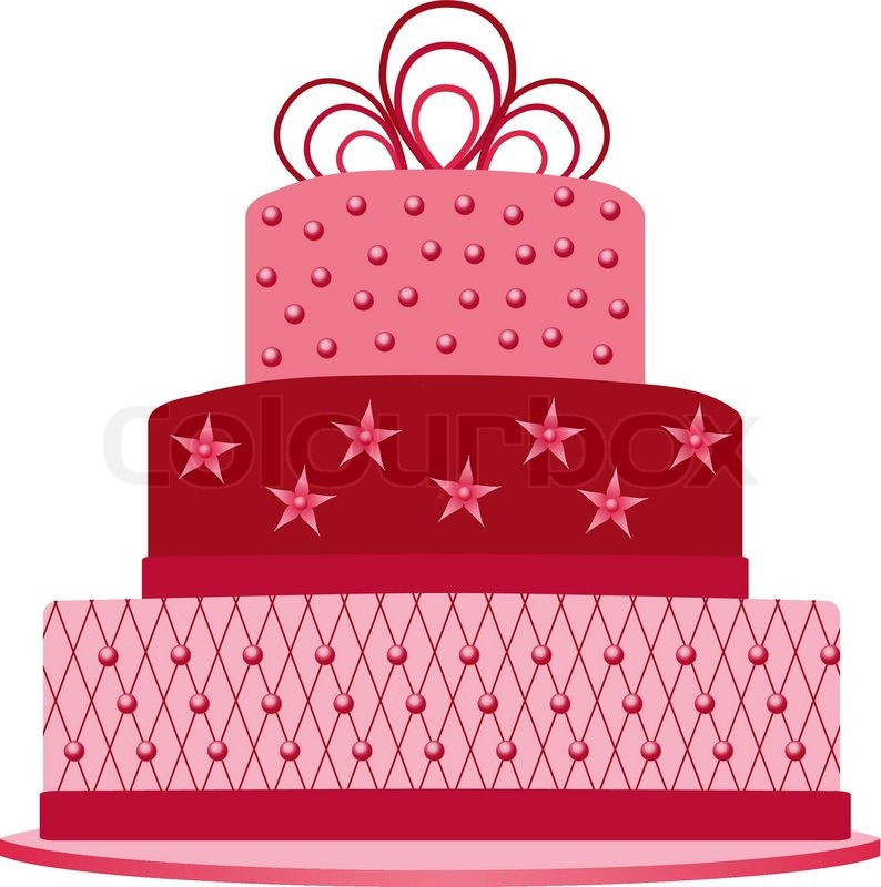 wedding cake box design vector pink cake stock vector colourbox 22061