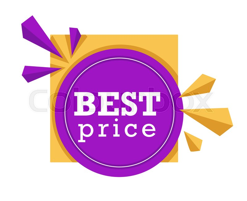 Price Tag Logo Shopping Isolated Stock Vector Colourbox