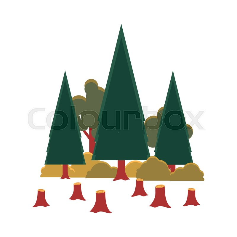 Deforestation Cartoon Trees In Stock Vector Colourbox 25,000+ vectors, stock photos & psd files. deforestation cartoon trees in