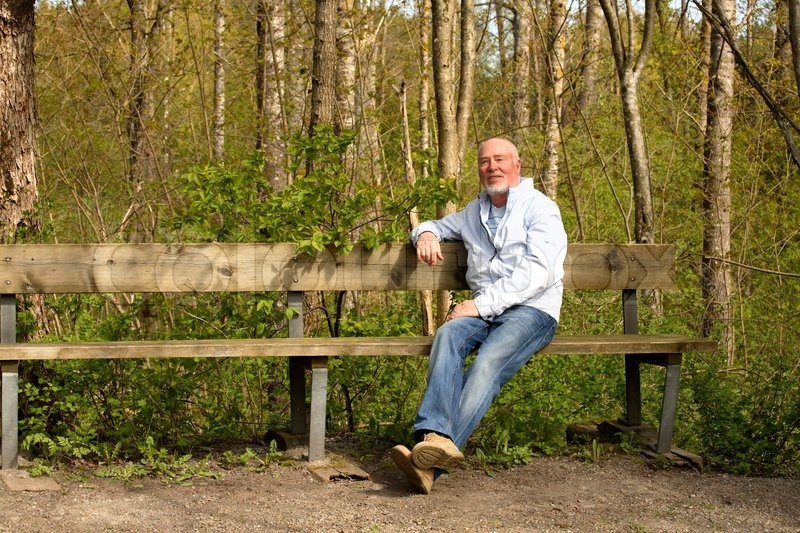 http://www.colourbox.com/preview/4106710-569995-senior-man-sitting-comfortably-on-long-bench-in-natural-park.jpg