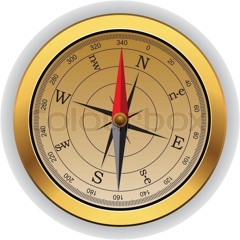 Vector Vintage Compass Stock Vector Colourbox