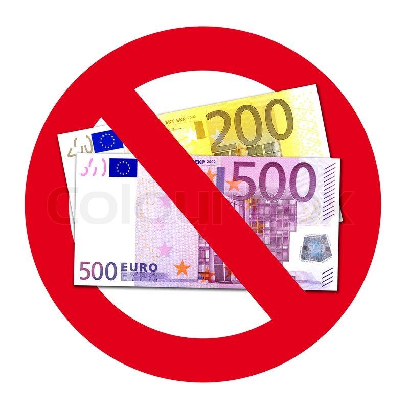 Schild keine annahme von 200 und 500 euro scheinen for Ecksofa 500 euro