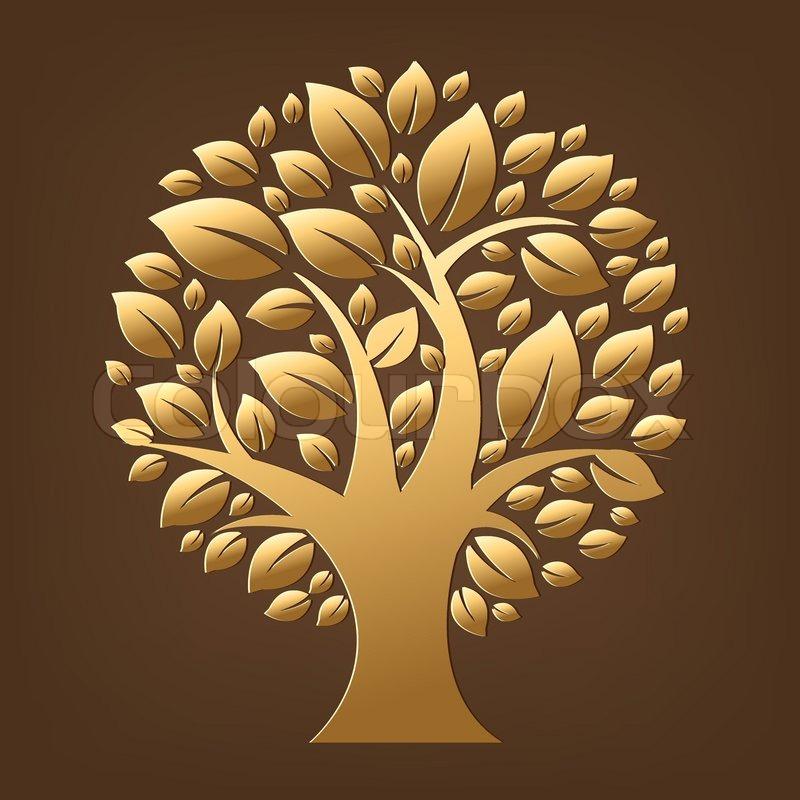 Gold Tree Stock Vector Colourbox