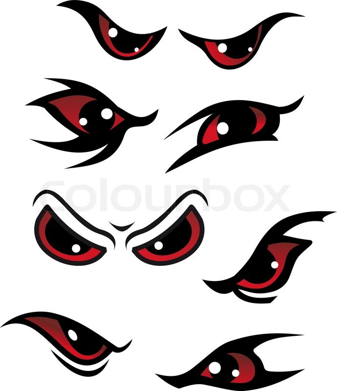 Danger eyes stock vector