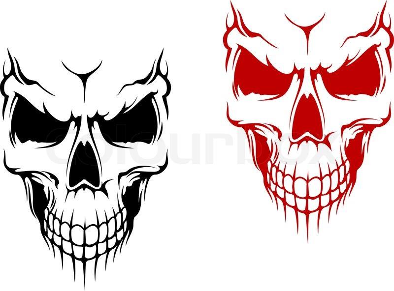 Smiling Skull Stock Vector Colourbox