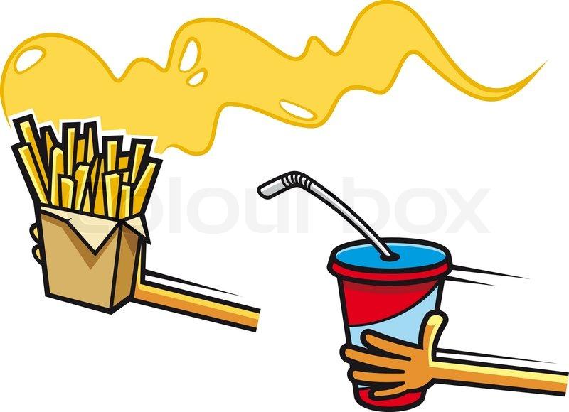 Fast Food Symbols Stock Vector Colourbox