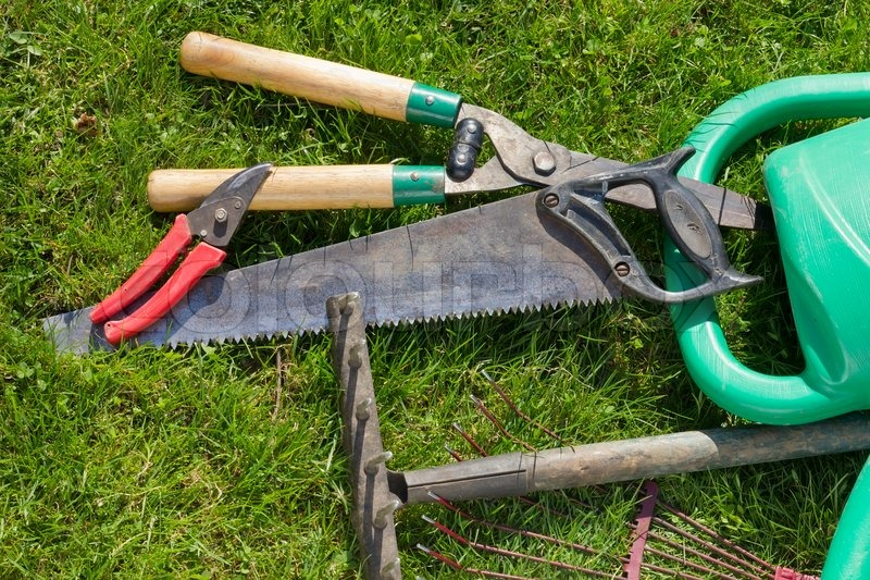 Used Old Garden Tools Background Stock Image Colourbox