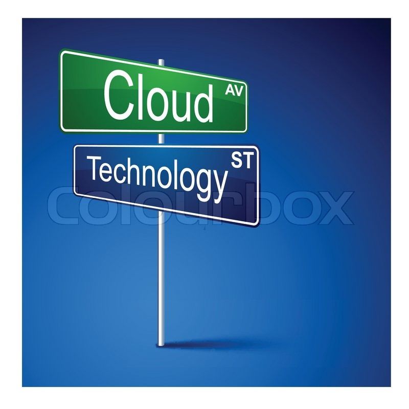 sign technology cloud road vector direction vektor colourbox technik anzeige blau abbildung sving medien lieferanten dieses mehr