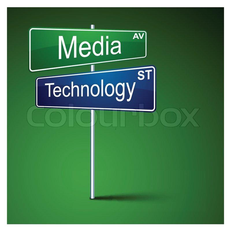 sign technology vektor colourbox direction zeiger blau metal