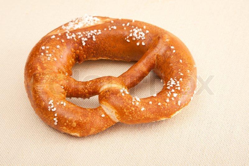 Fresh German pretzel Bretzel - Stock Photo - Colourbox