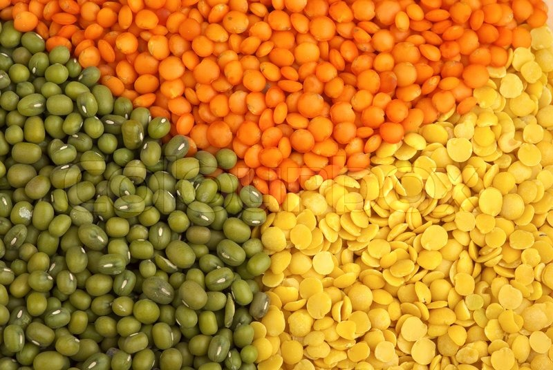 red and yellow lentils