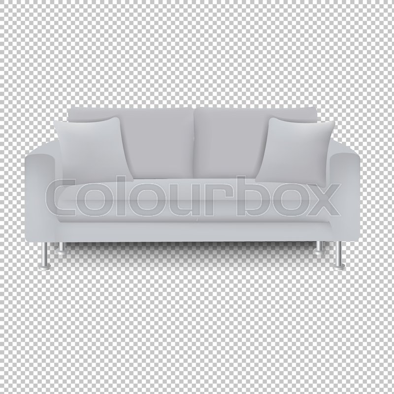 Superb Grey Sofa Bed With Isolated Stock Vector Colourbox Machost Co Dining Chair Design Ideas Machostcouk