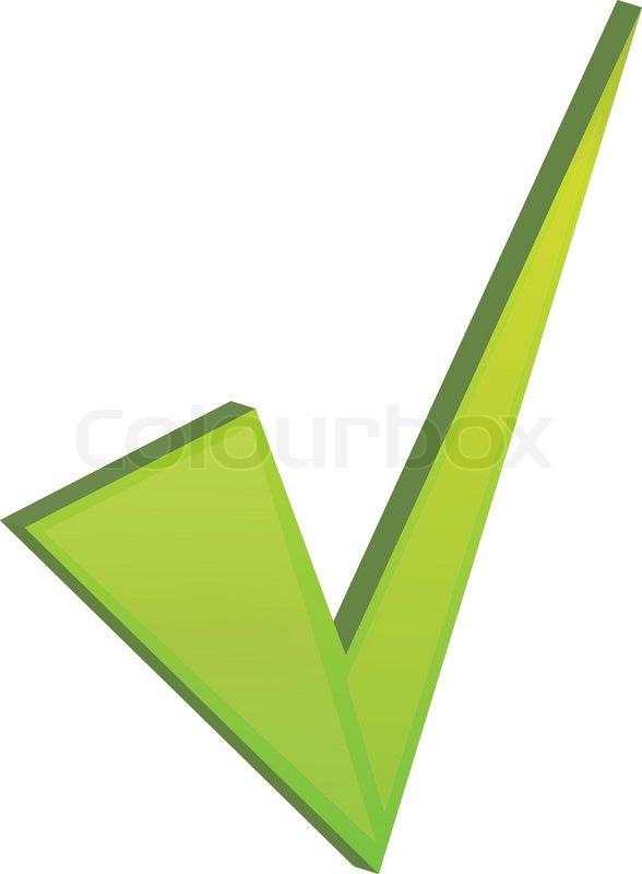 Zugelassenen Symbol isoliert auf weiss | Vektorgrafik | Colourbox