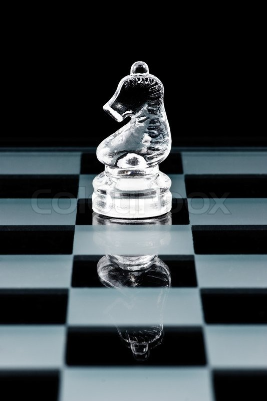 Stock Image Of Glass Chess Knight