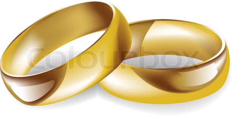 Goldene Hochzeit Ringe Vektorgrafik Colourbox