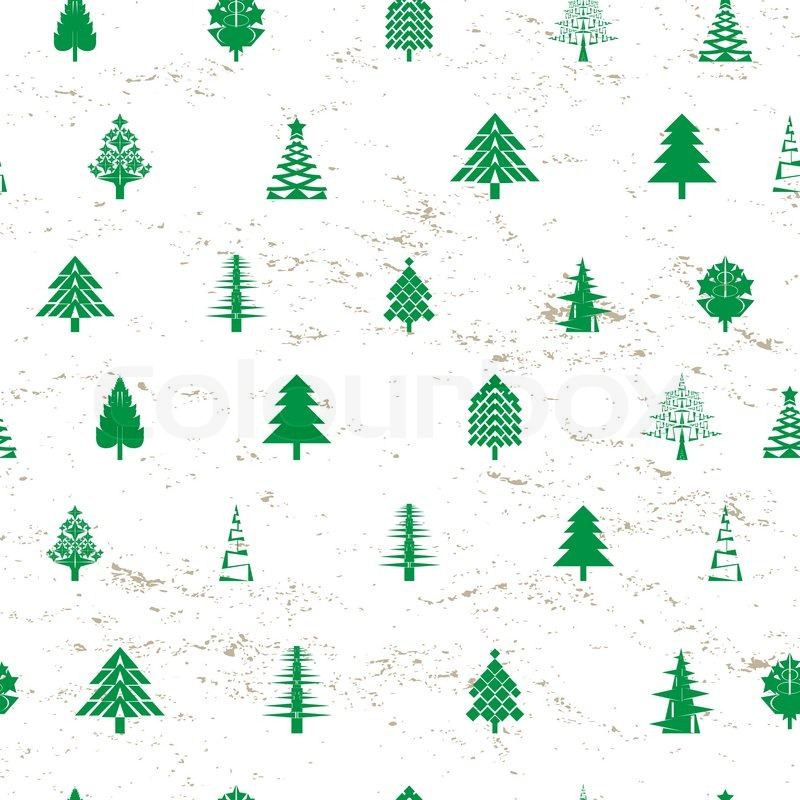 Christmas Tree Pattern.Abstract Christmas Tree Pattern Stock Vector Colourbox