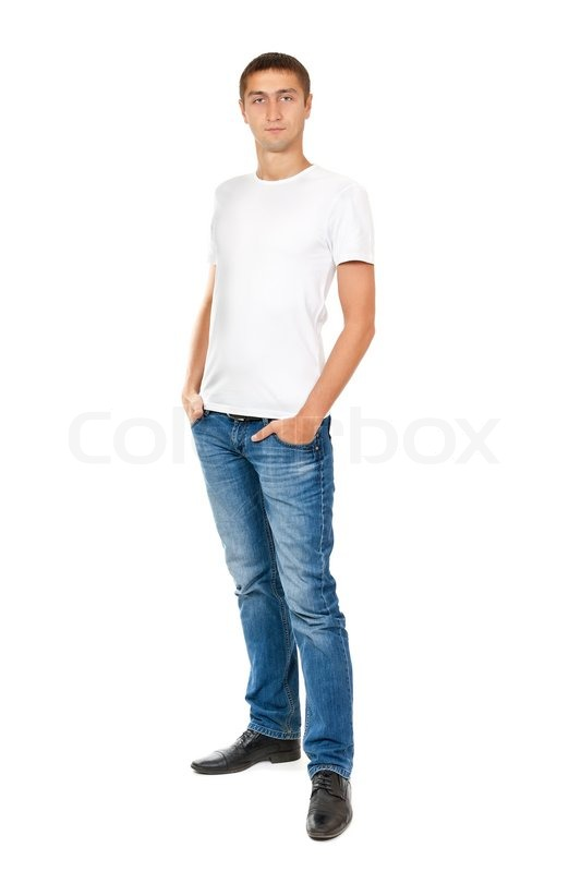 Portrait of young man in full view | Stock Photo