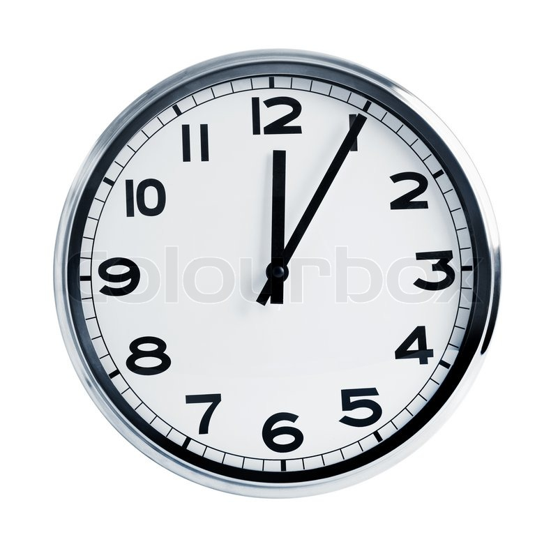 Quartz wall clock stock photo colourbox - Mondaine wall clock cm ...