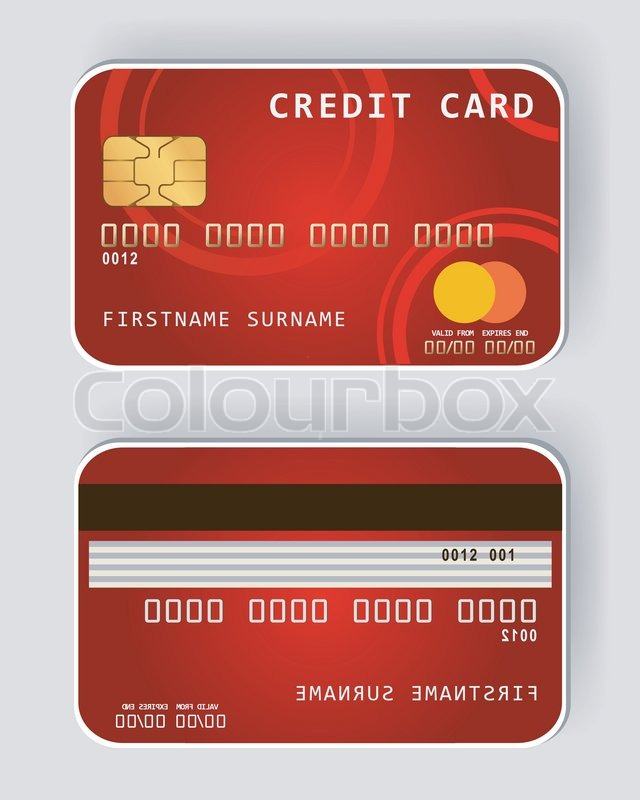 Red Credit Card Banking Concept Front Stock Vector Colourbox