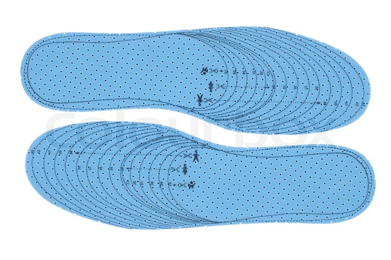 Pair of blue foam insoles | Stock Photo | Colourbox