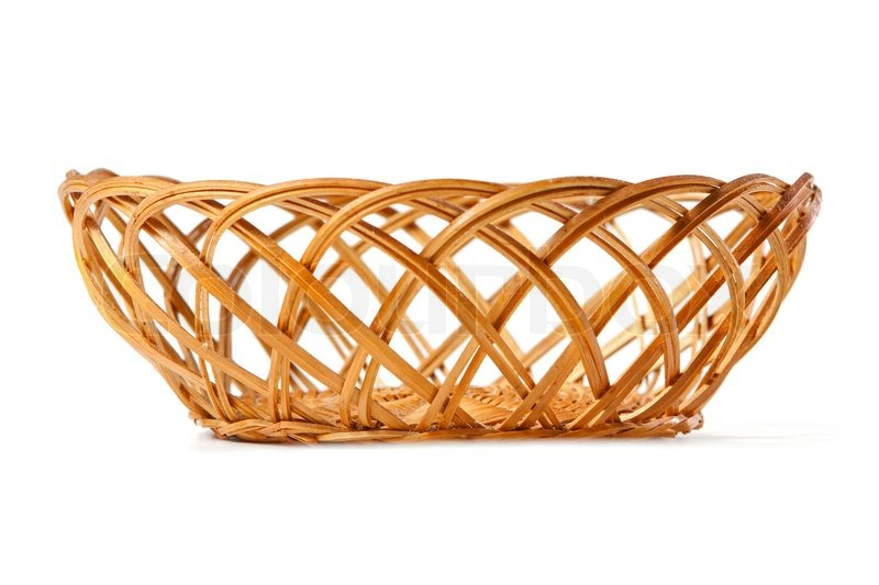 How To Weave A Basket Out Of Twigs : Basket woven of twigs stock photo colourbox