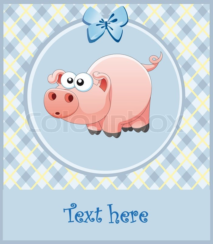 Baby  Picture Frames on Stock Vector Of  Nice Frame For The Boy  Pink Pig  Vector