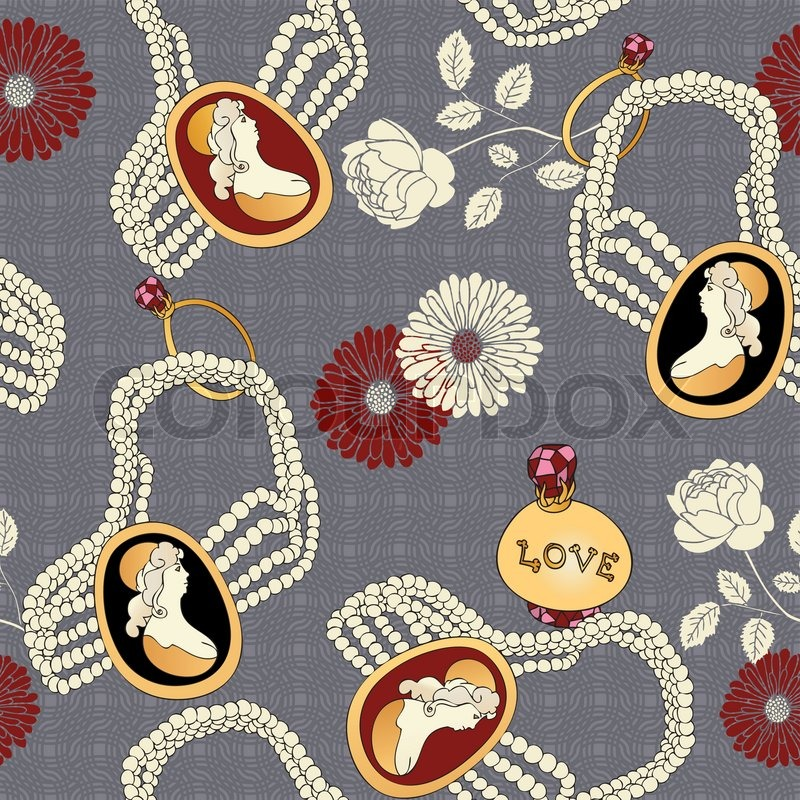 Abstract Background With Antique Cameo Fashion Seamless