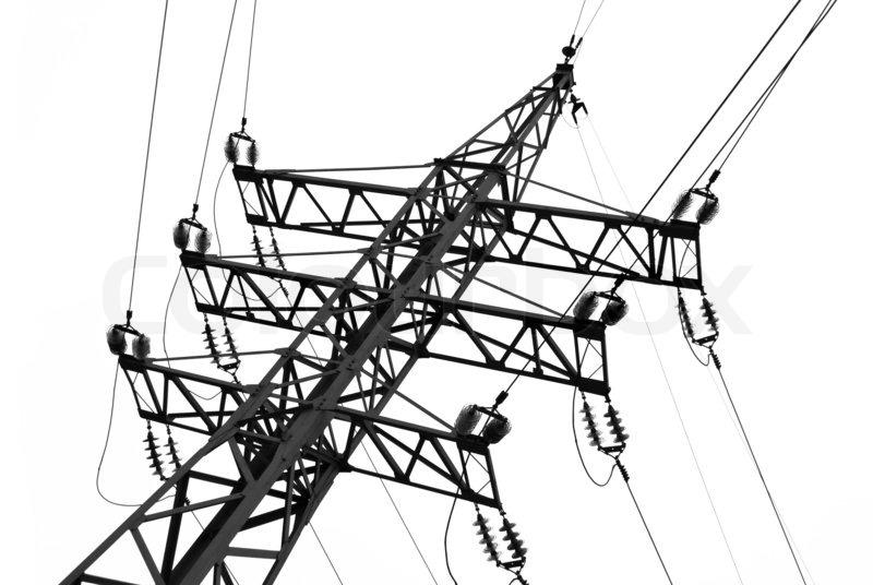 Electric line, stock photo
