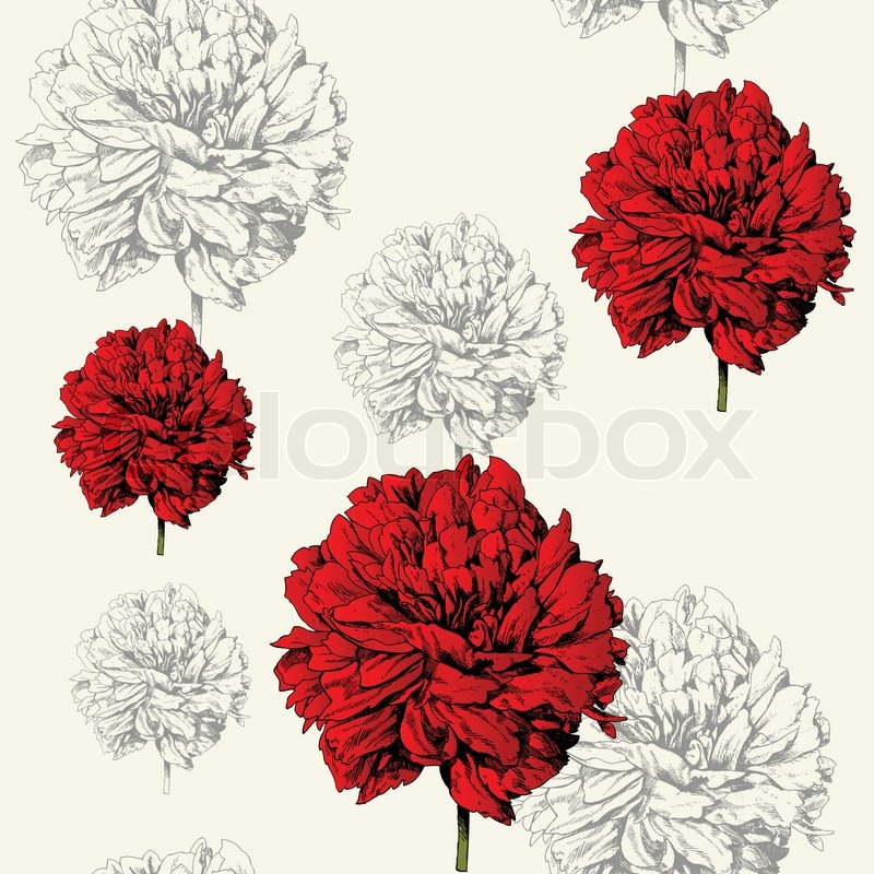 Flower Picture on Red Creative Flowers  Summer  Spring Theme For Decoration And Design