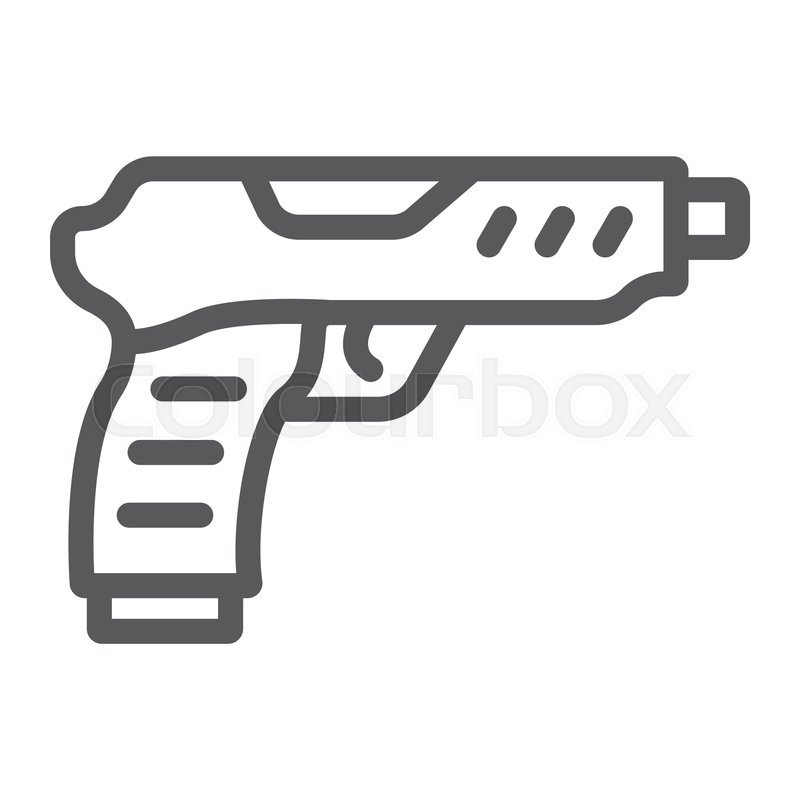 pistol line icon army and military stock vector colourbox colourbox