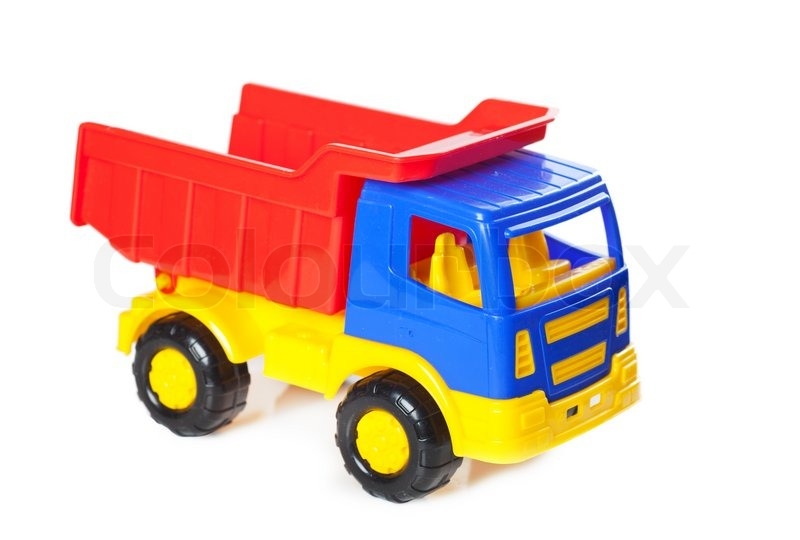 Colorful toy truck | Stock Photo | Colourbox