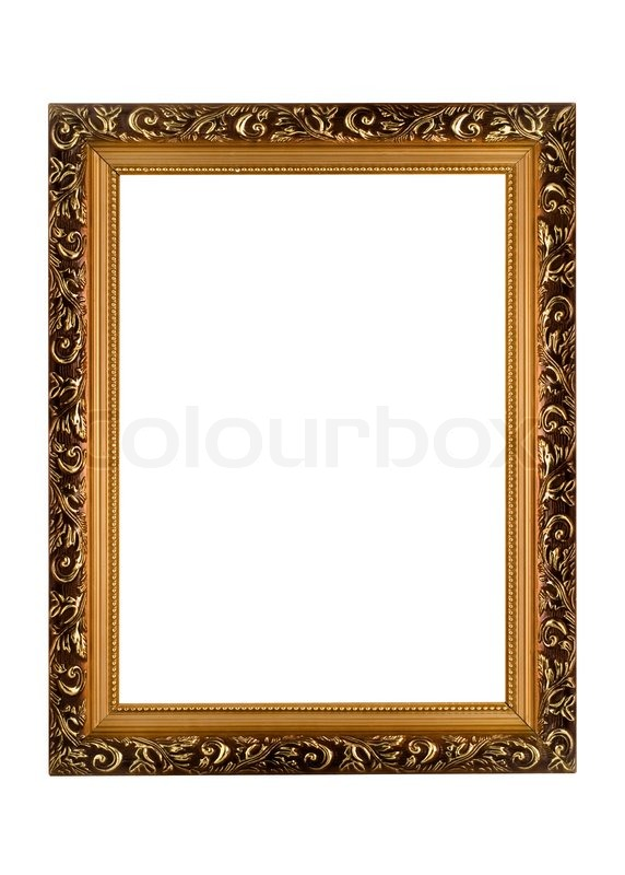 Empty golden Frame for picture or portrait | Stock Photo | Colourbox