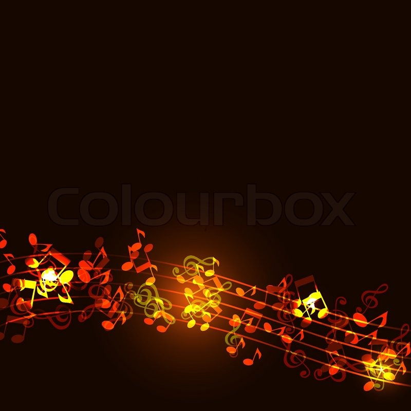 Notes Abstract Gold Music Background Stock Vector Colourbox