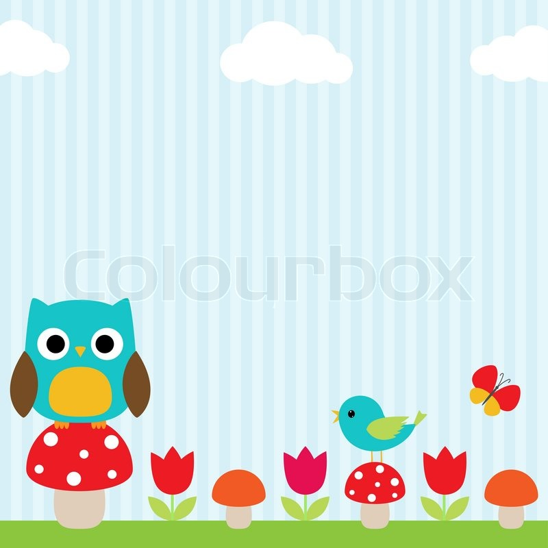 Owl Background Stock Vector Colourbox